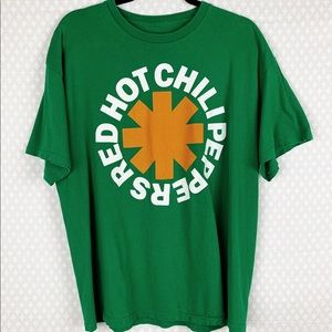 Bravado | green Red Hot Chili Peppers band tee